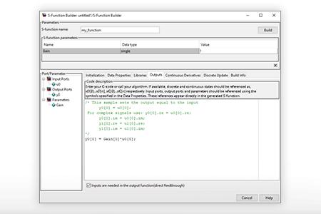 Integrating C or MATLAB code into ACG SDK