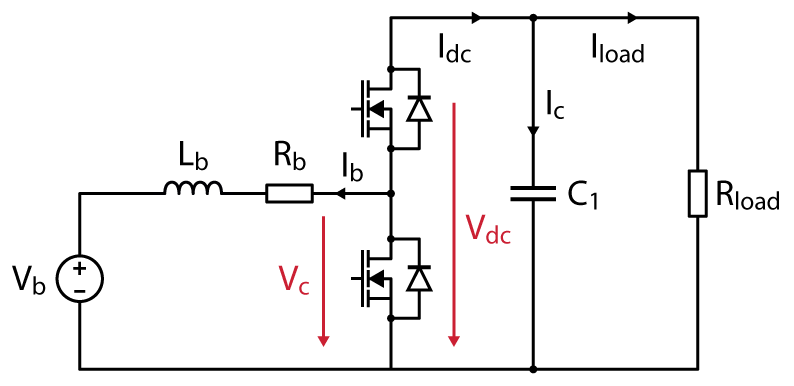 Schematic of buck-boost converter