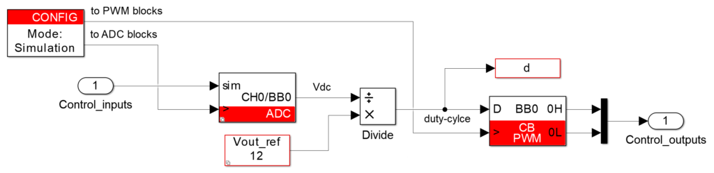 Buck converter control example