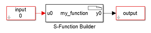 S-function usage with the builder