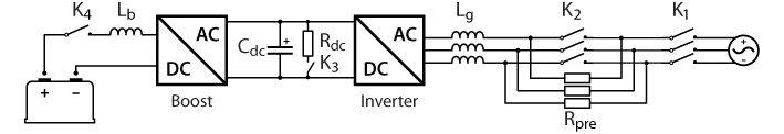 Precharge circuit for 3-phase inverter