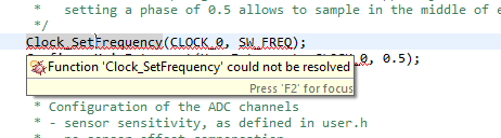 Function could not be resolved