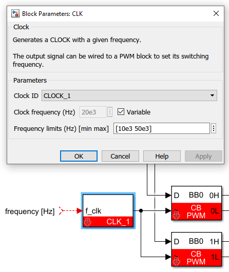 Variable frequency operation on Simulink