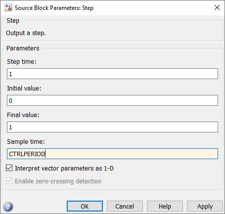 Step block parameters