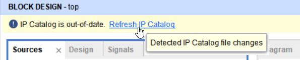 Refresh IP Catalog