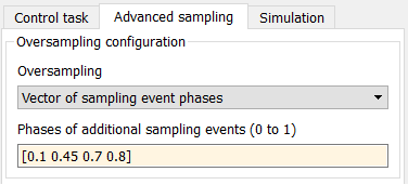 Configuration of sampling events in Simulink
