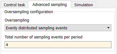 Configuration of oversampling in Simulink