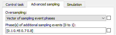 Configuration of sampling events in PLECS