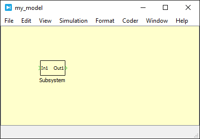 Subsystem creation