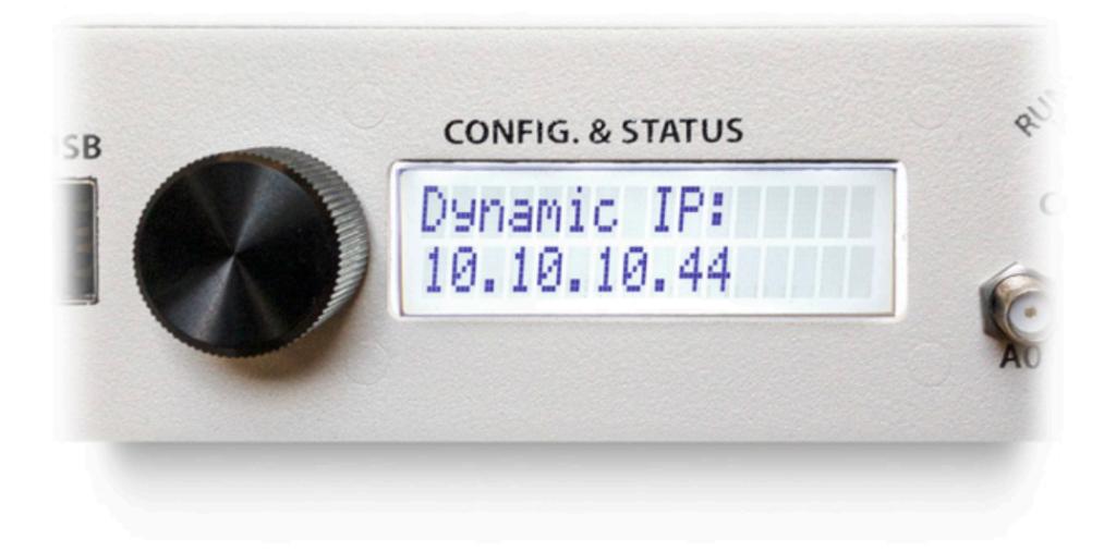 B-Box IP address display