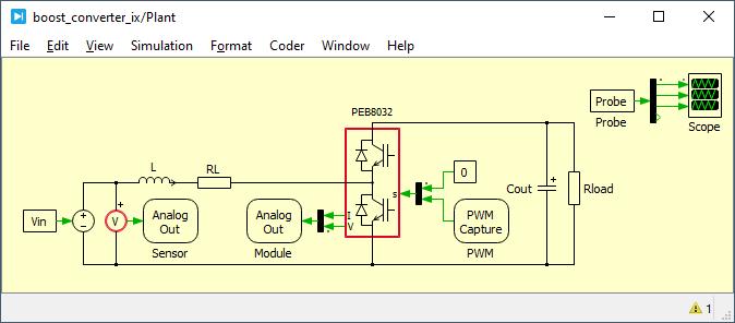 Boost converter model