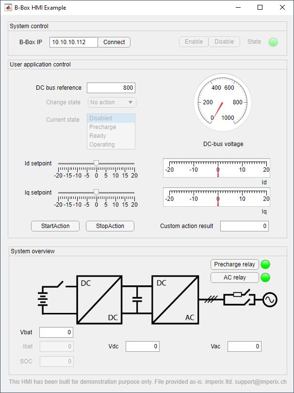 Example of GUI using App Designer