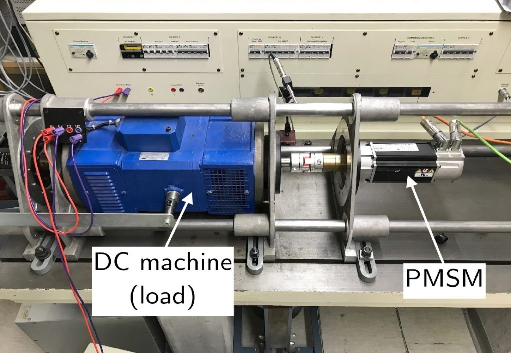 Motor testbench with permanent magnet motor