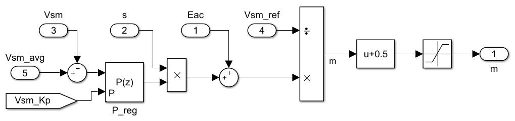 MMC submodule control model