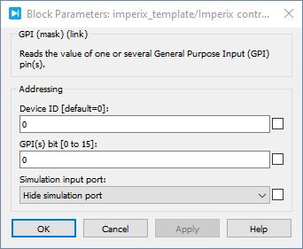 General purpose inputs PLECS dialog parameters