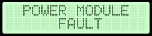 LCD display fault message