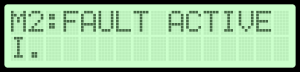 LCD display fault source and type