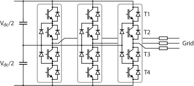 NPC converter for three-phase applications