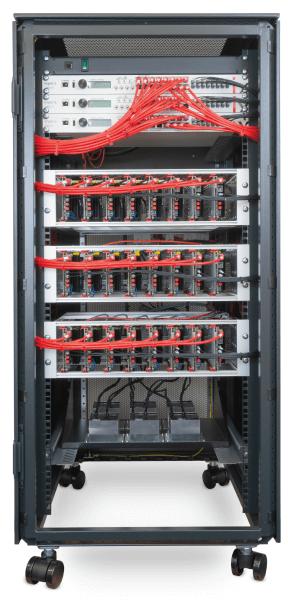 Image of the Modular Multilevel Converter test bench configured as an MMC converter.
