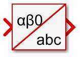 Alpha-beta-zero to abc Simulink block