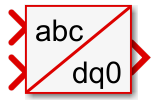 abc to dq0 Simulink block