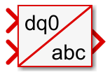 dq0 to abc Simulink block