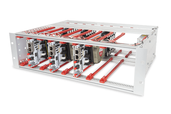 3U open rack-mounting chassis for power modules
