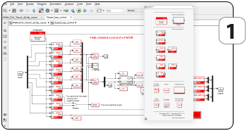 Computer simulation of power electronic system.