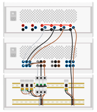 Wiring example of the power electronic test bench for a PV inverter.