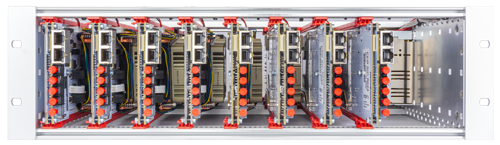 Rack mounting solution for several three-level NPC modules