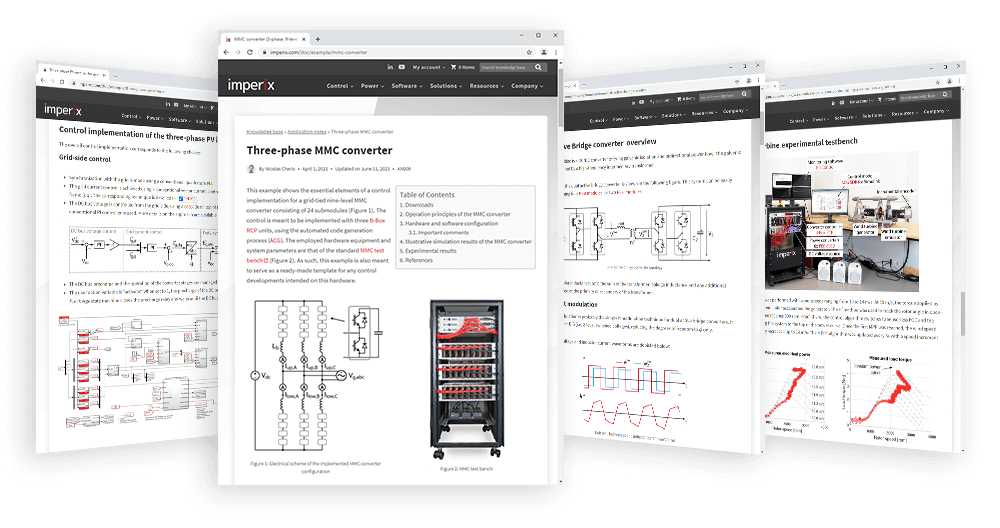 A collection of ready-to-use application examples, technical notes, and product user guides.